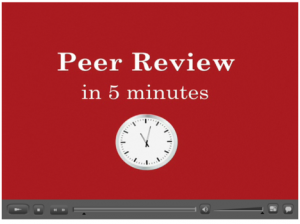 Click to play Peer Review in Five Minutes