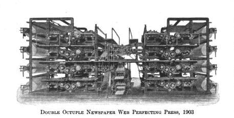 Double Octuple Newspaper Web Perfecting Press, 1903