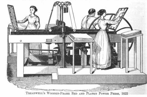 Treadwell's Wooden-Frame Bed and Power Press, 1822