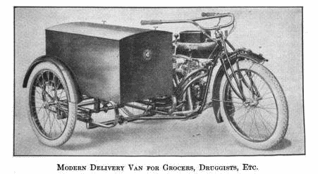 Modern Delivery Van for Grocers, Druggists, Etc.