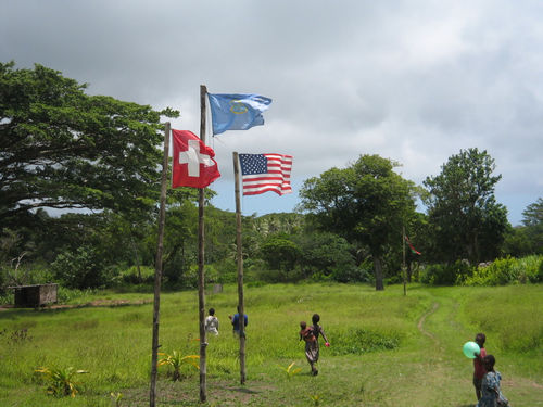 John Frum 'cargo cult' and their ceremonial flag raising by Charmaine Tham / CC-BY