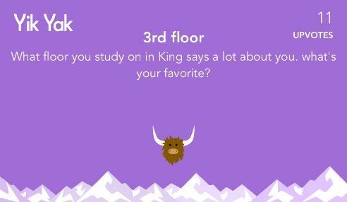 What floor you study on in King says a lot about you. what's your favorite? 11 upvotes