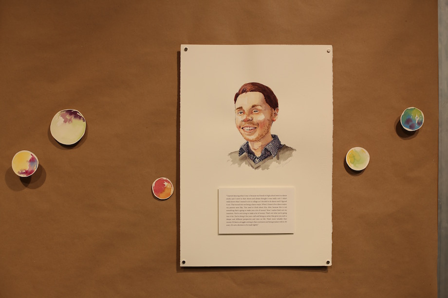 Some of the first-person stories were accompanied be watercolor portraits.